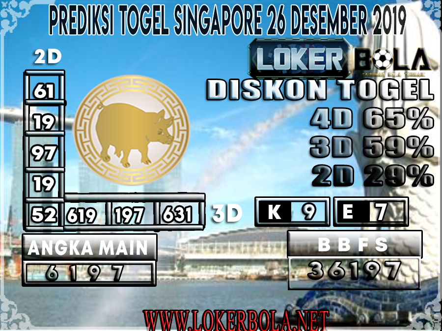 PREDIKSI TOGEL SINGAPORE LOKERBOLA 26 DESEMBER 2019