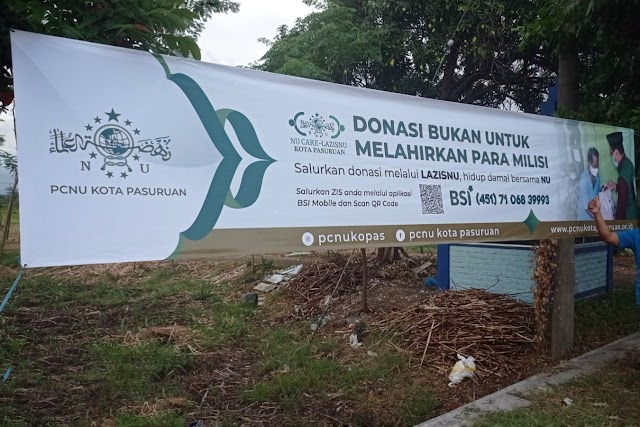 Lazisnu Kota Pasuruan Sebar Spanduk Donasi Bukan Untuk Melahirkan Milisi