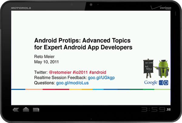 The Radioactive Yak: Android Protips at I/O: The Session Video (and