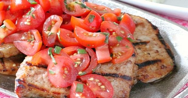 Caprese Grilled Pork Recipe