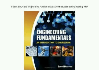 Engineering fundamentals- an introduction to engineering pdf