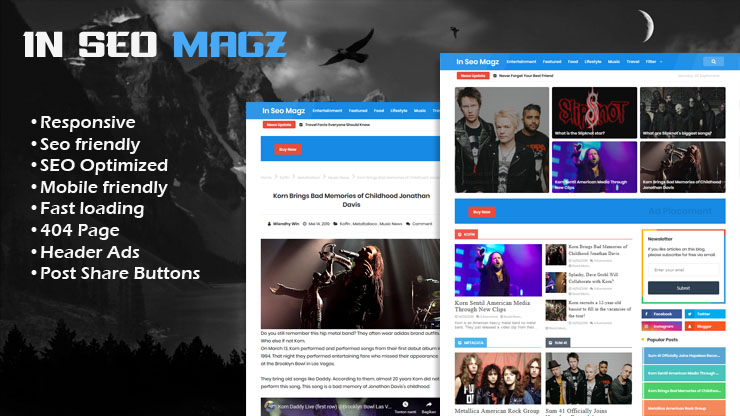 In Seo Magz Pro Responsive Blogger Template