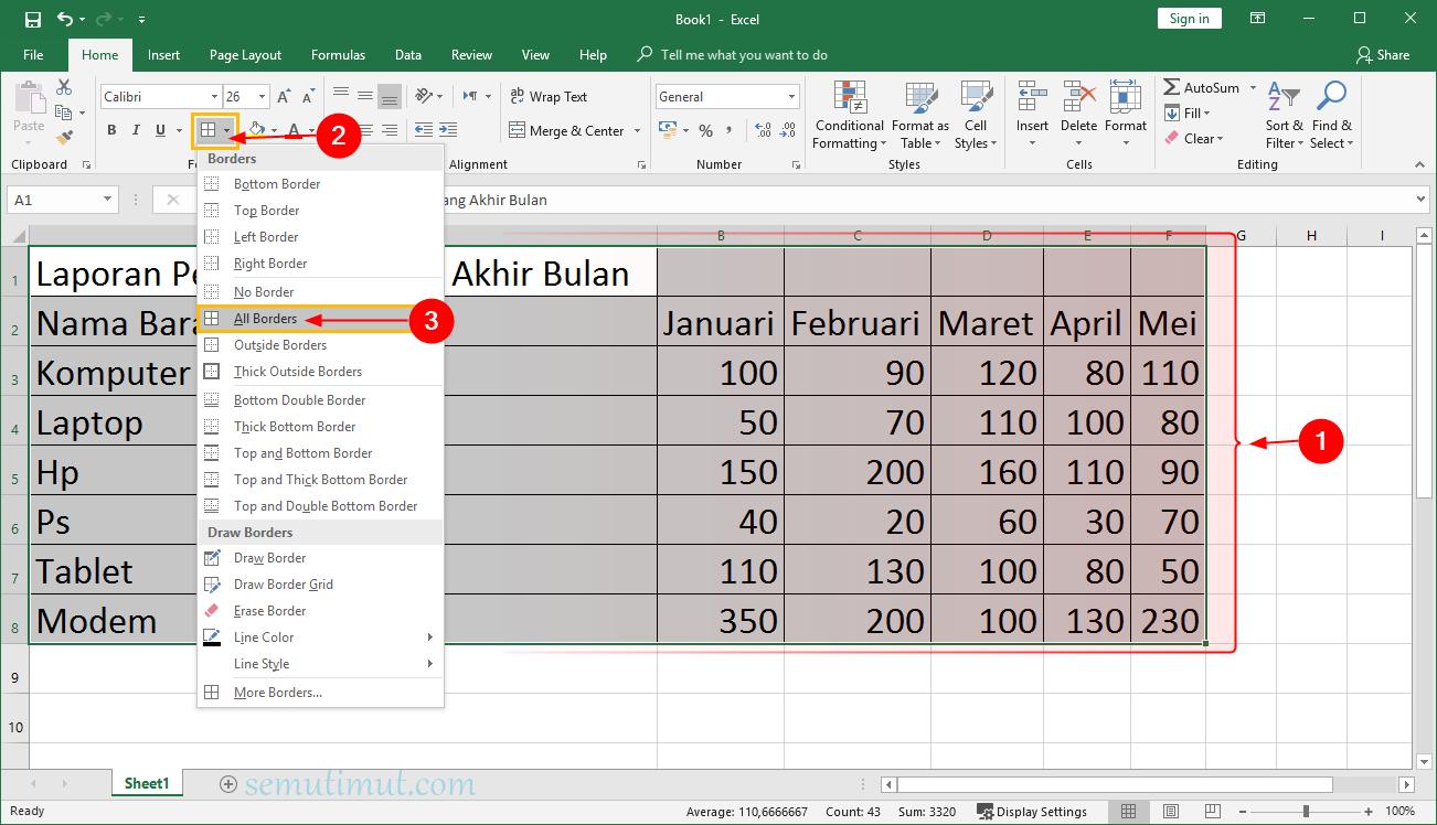 Cara Membuat Tabel Di Excel Berwarna Otomatis Mudah Semutimut Tutorial Hp Dan Komputer Terbaik