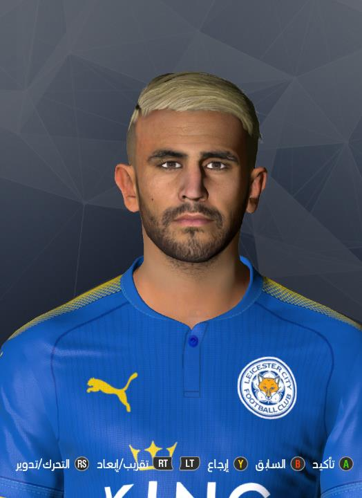 PES 2017 R. Mahrez New Haircut by Abdo Mohamed Facemaker