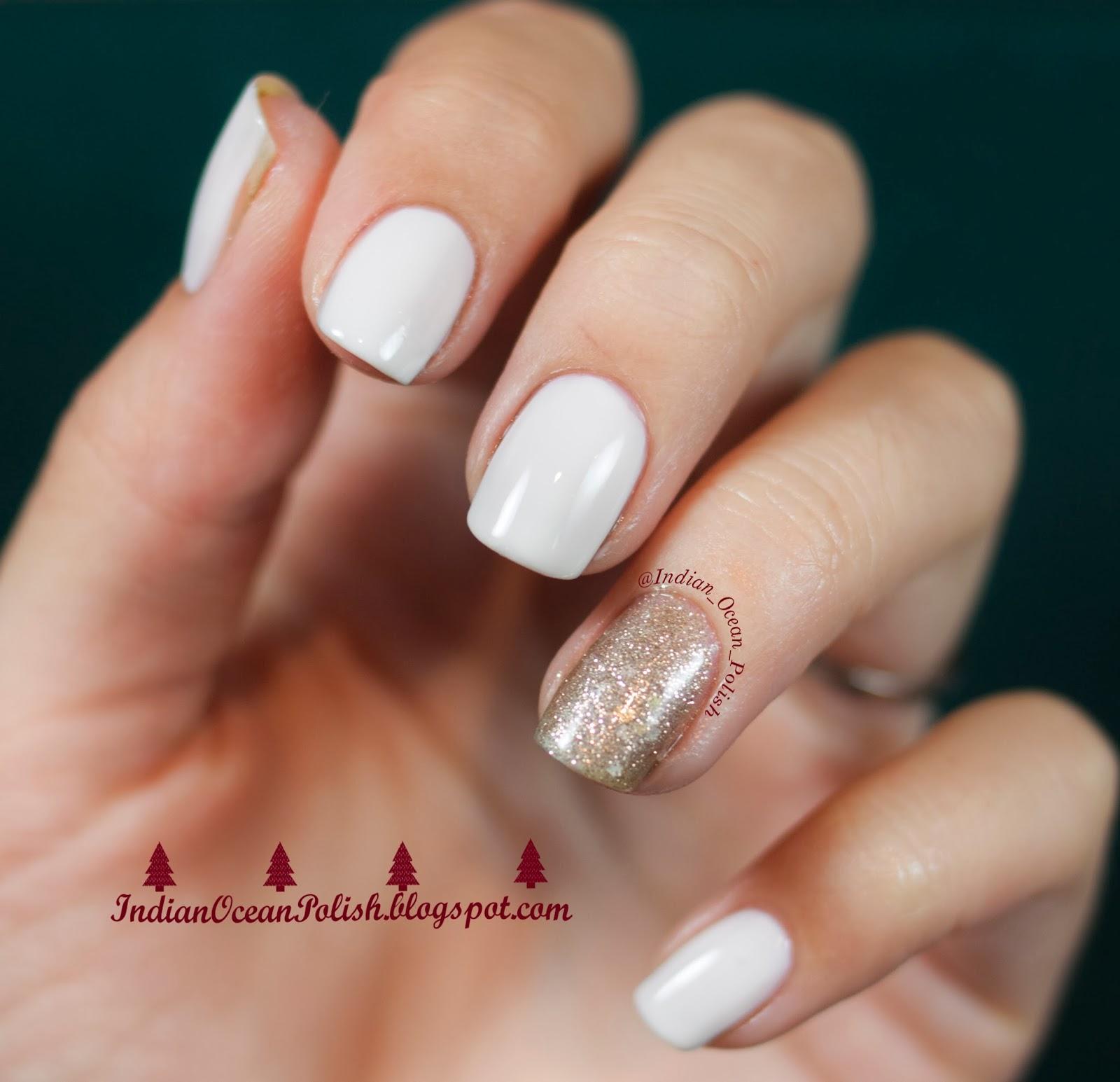 Square White Nails!