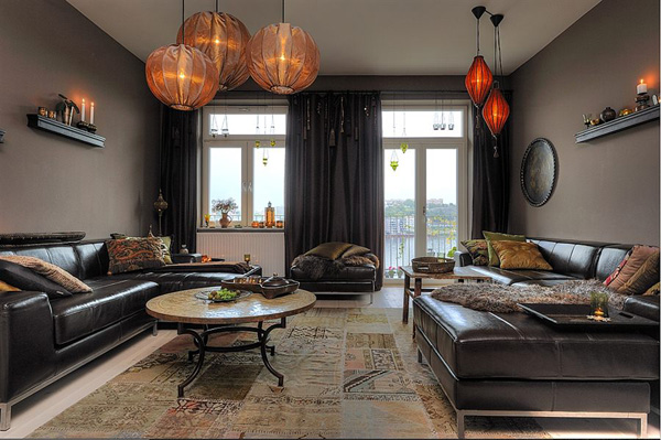 Contemporary Interior Design Style Characteristics: Decoración De Salas Color Chocolate