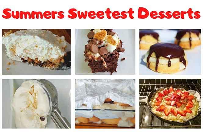 summer dessert collage roundup of recipes