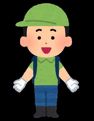 長靴・軍手・帽子を付けた男の子のイラスト(半袖)