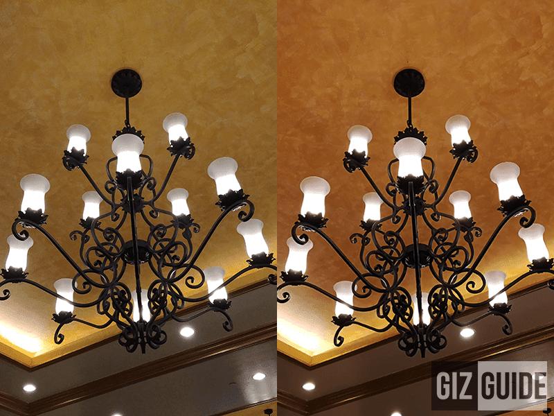 Scene 1 - Indoor lowlight G6 left, P10 Plus right