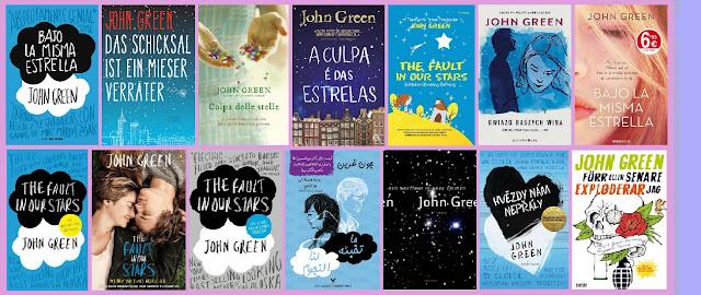 portadas del libro Bajo la misma estrella, de John Green