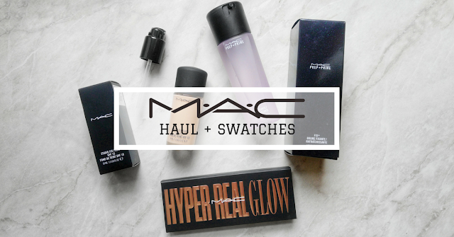 MAC haul | Studio Fix Fluid | Hyper Real Glow Palette | Prep + Prime Fix+