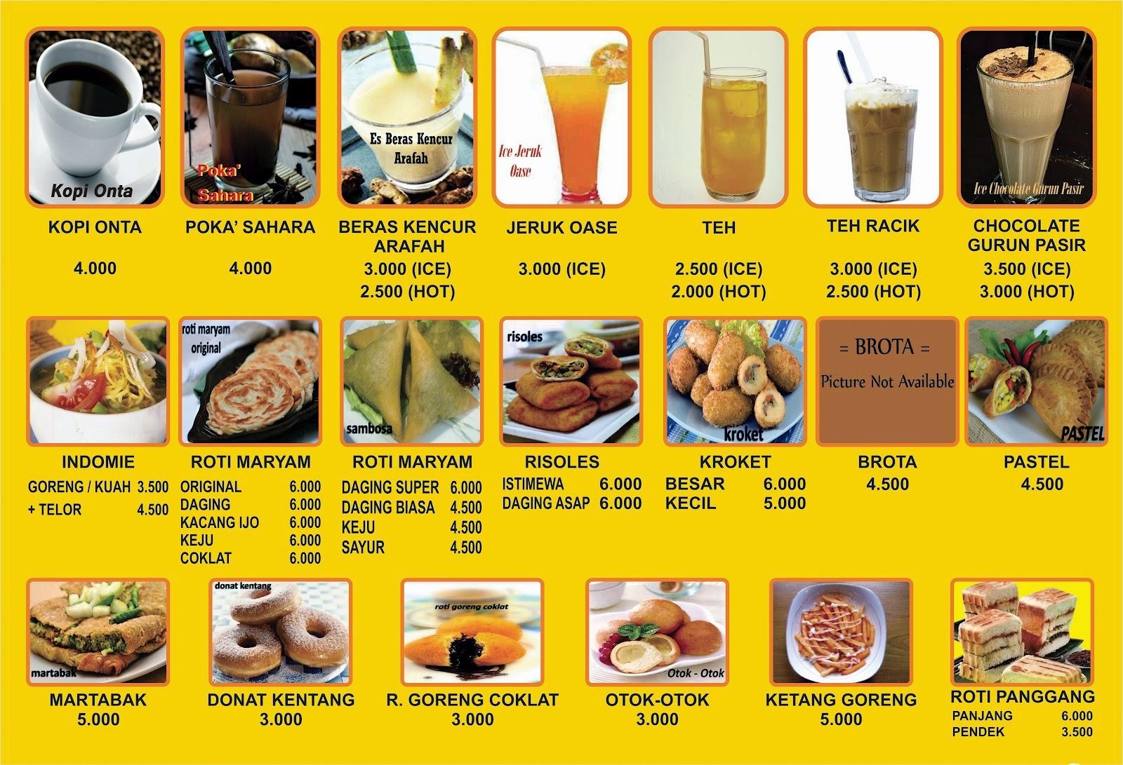 Terbaru 38 Contoh Menu Cafe Coklat