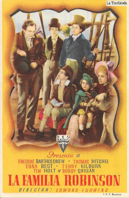 Programa de Cine - La Familia Robinson - Freddie Bartholomew - Thomas Mitchell