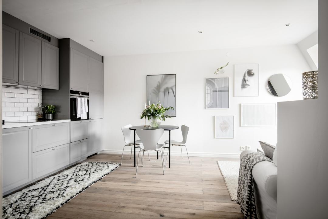 geometric kitchen rug