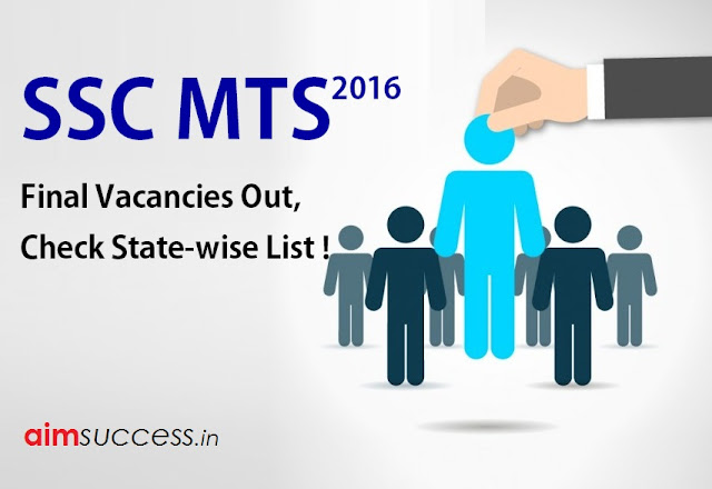 SSC MTS Final Vacancies 2016 Out, Check State-wise List !