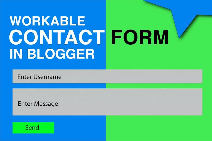 How do I make a workable contact form in Blogger using a Blogger contact form?