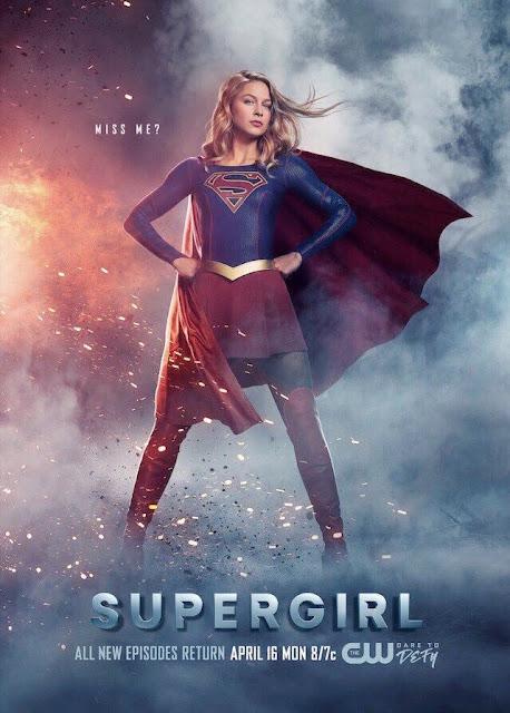 """Póster del regreso de la tercera temporada de """"Supergirl"""" - DC Comics"""