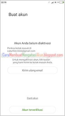 cara bikin akun mi dengan email