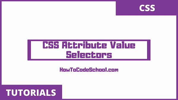 CSS Attribute Value Selectors