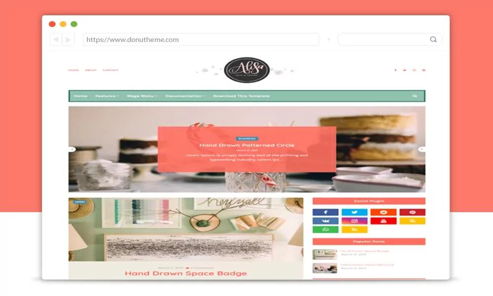 Alisa v1.0 Responsive Blogger Template