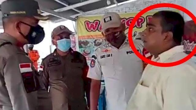 Nekat! Pedagang Ini Siram Satpol PP Pakai Air Panas, Tak Mau Warkopnya Ditutup Razia PPKM