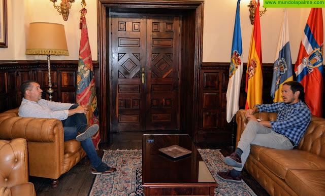 Visita institucional de Mariano H. Zapata a Santa Cruz de La Palma