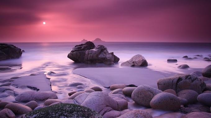 Papel de Parede Rochas na Praia
