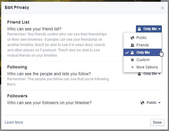 Hướng dẫn đơn giản về việc ẩn danh sách bạn bè của bạn khỏi những người bạn khác.