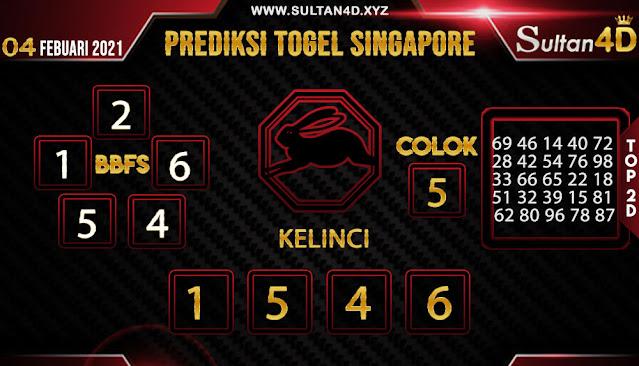 PREDIKSI TOGEL SINGAPORE SULTAN4D 04 FEBUARI 2021