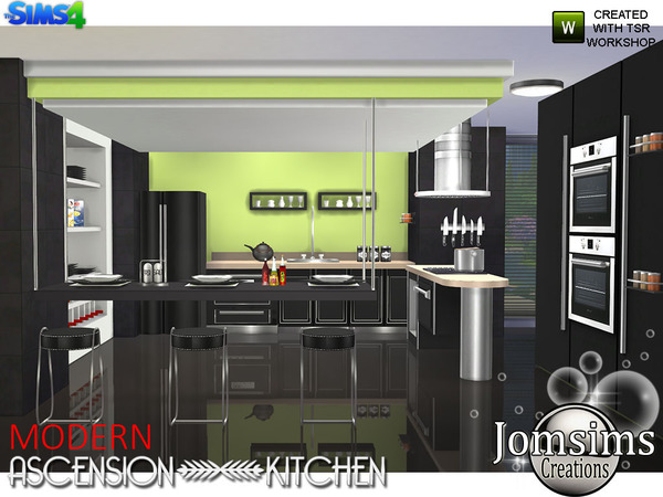 My sims 4 blog modern ascension kitchen set by jomsims for Kitchen set sims 4