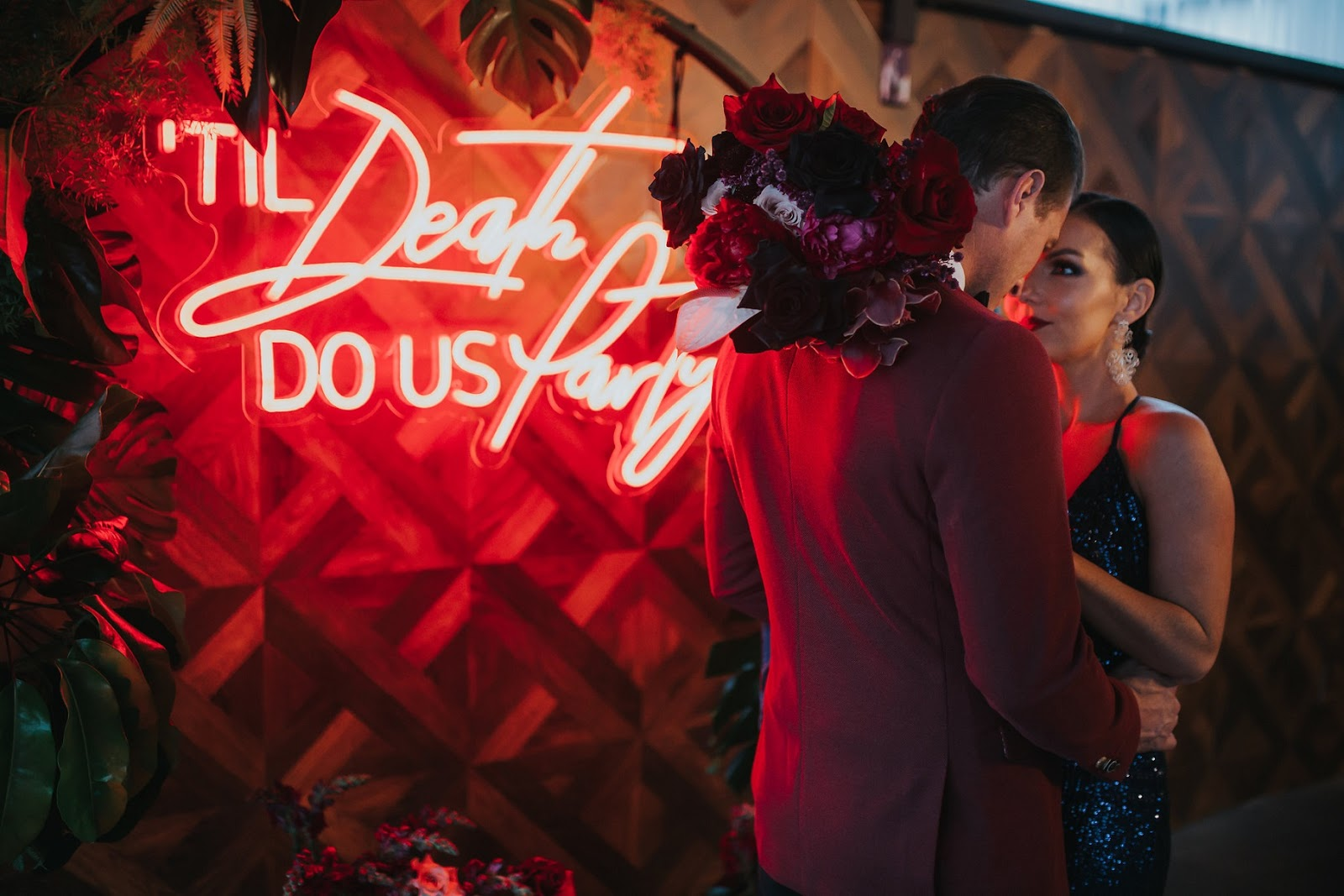 TIL DEATH DO US PARTY | LUXE MOODY WEDDING INSPIRATION GOLD COAST