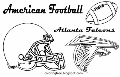 Atlanta Falcons clipart American football gridiron coloring pages for boys South US spectator match