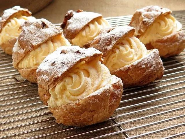 aprende ingles dulce profiteroles de crema cream puff