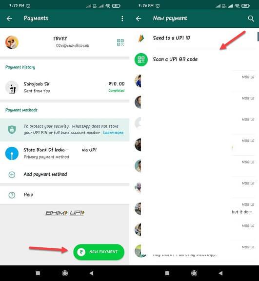whatsapp payment ki jankari