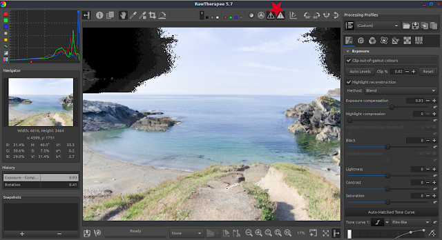 rawtherapee RAW photography peak pixel