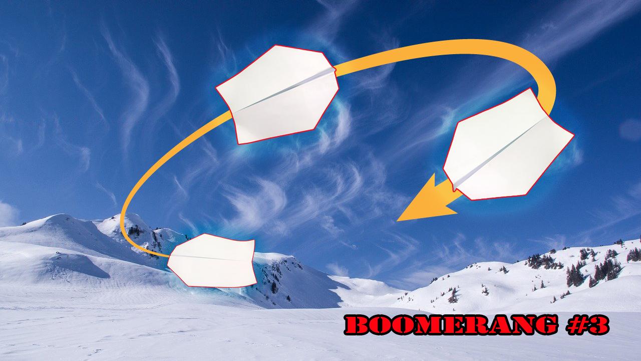 Cách gấp xếp máy bay Boomerang bằng giấy Ver 3 - How to make a paper boomerang airplane