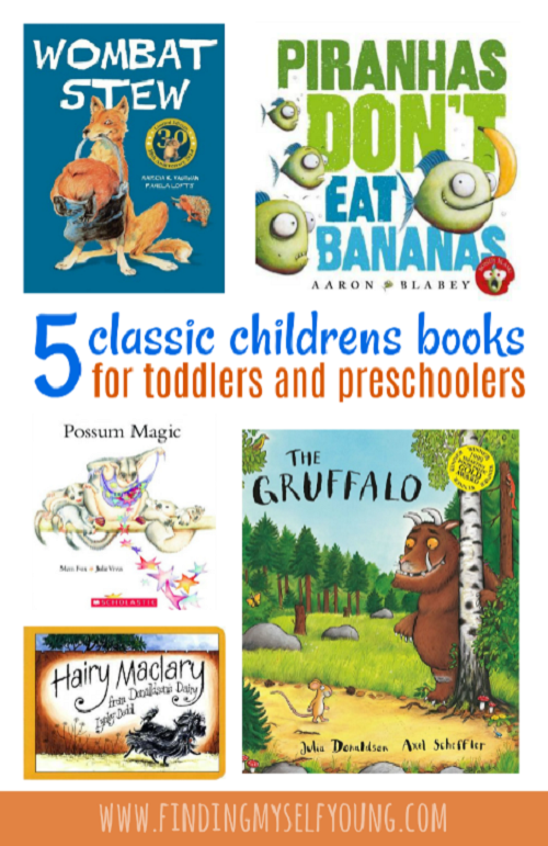 5 classic picture books for toddlers and preschoolers