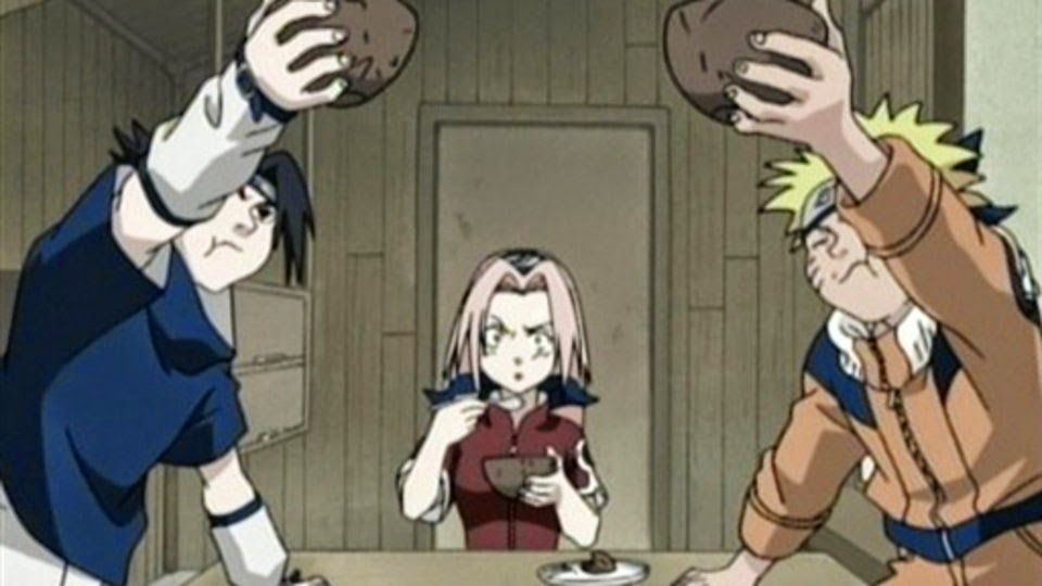 Sasuke, Sakura y Naruto