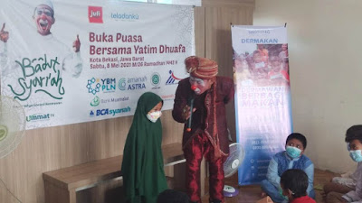 Jufi dan Komunitas Lembaga Filantropi Bukber dengan Anak Yatim-Dhuafa