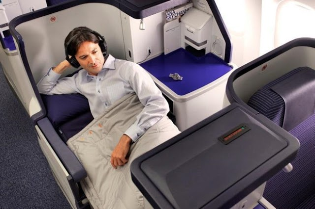 What is special about the business class of 5-star airline in Japan?
