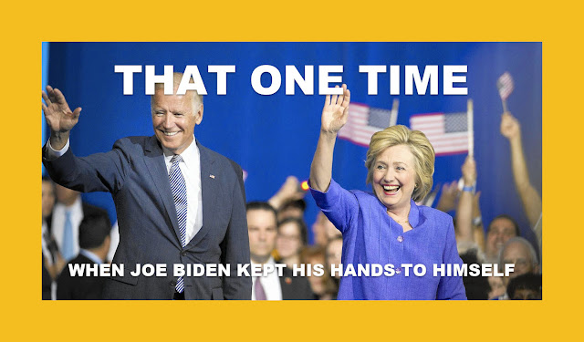 Memes: THAT ONE TIME  WHEN JOE BIDEN KEPT HIS HANDS TO HIMSELF