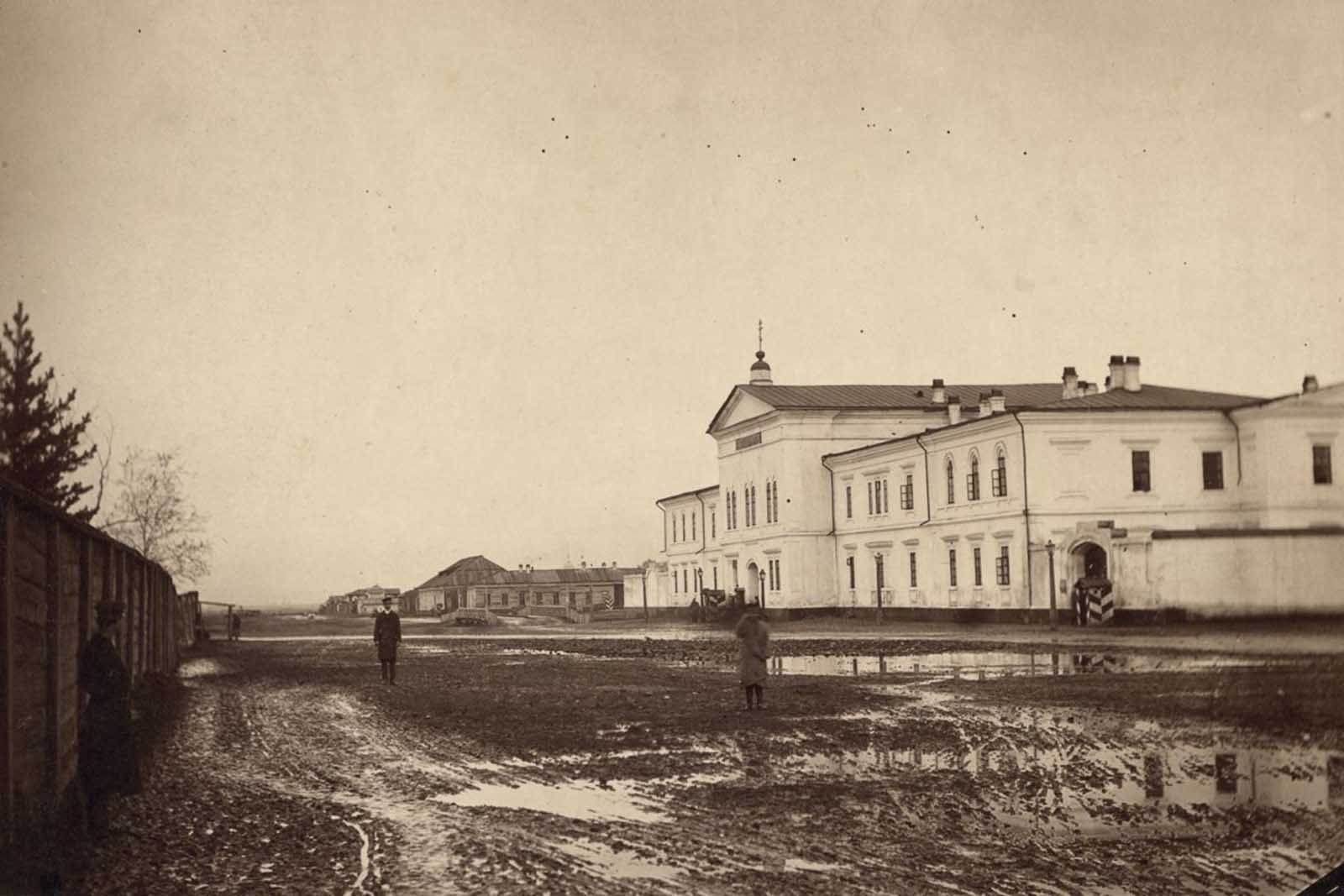 A prison in Irkutsk, eastern Siberia.