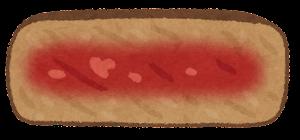 ステーキの焼き方のイラスト(ミディアムレア)