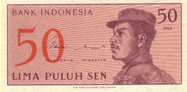 50 sen 1965 depan