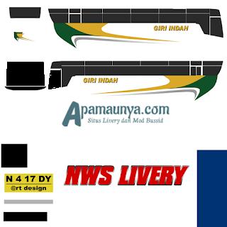 Livery bus giri indah titanium trisakti