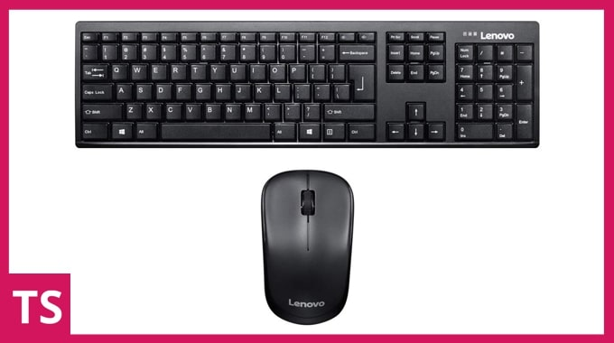 Lenovo 100 wireless keyboard and mouse combo.