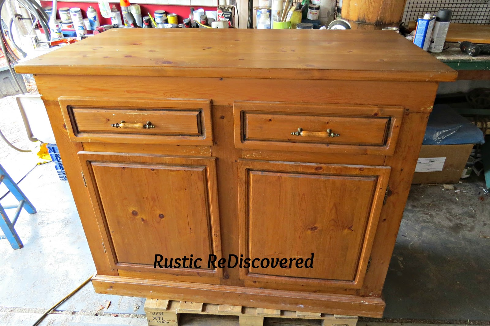 Kitchen Island Makeover Rustic Rediscovered Kitchen Island Makeover