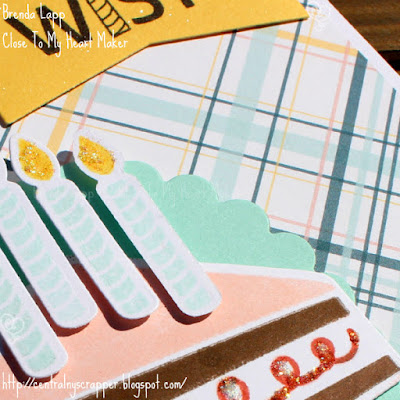 Emma's birthday card (close-up) - Stamptacular Blog Hop