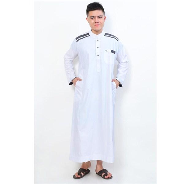 Model busana muslim gamis pria terbaru untuk lebaran 2017/2018