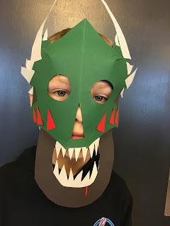 Monster maske i papir Blikfang